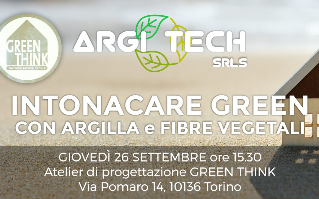 Intonacare Green, un nuovo workshop